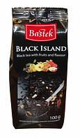 Чай черный с кусочками фруктов BASTEK Black Island 100гр. (Польша)