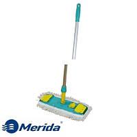 Швабра профессиональная для влажной уборки с зажимом мопов 40 см. на ушки Merida, Италия
