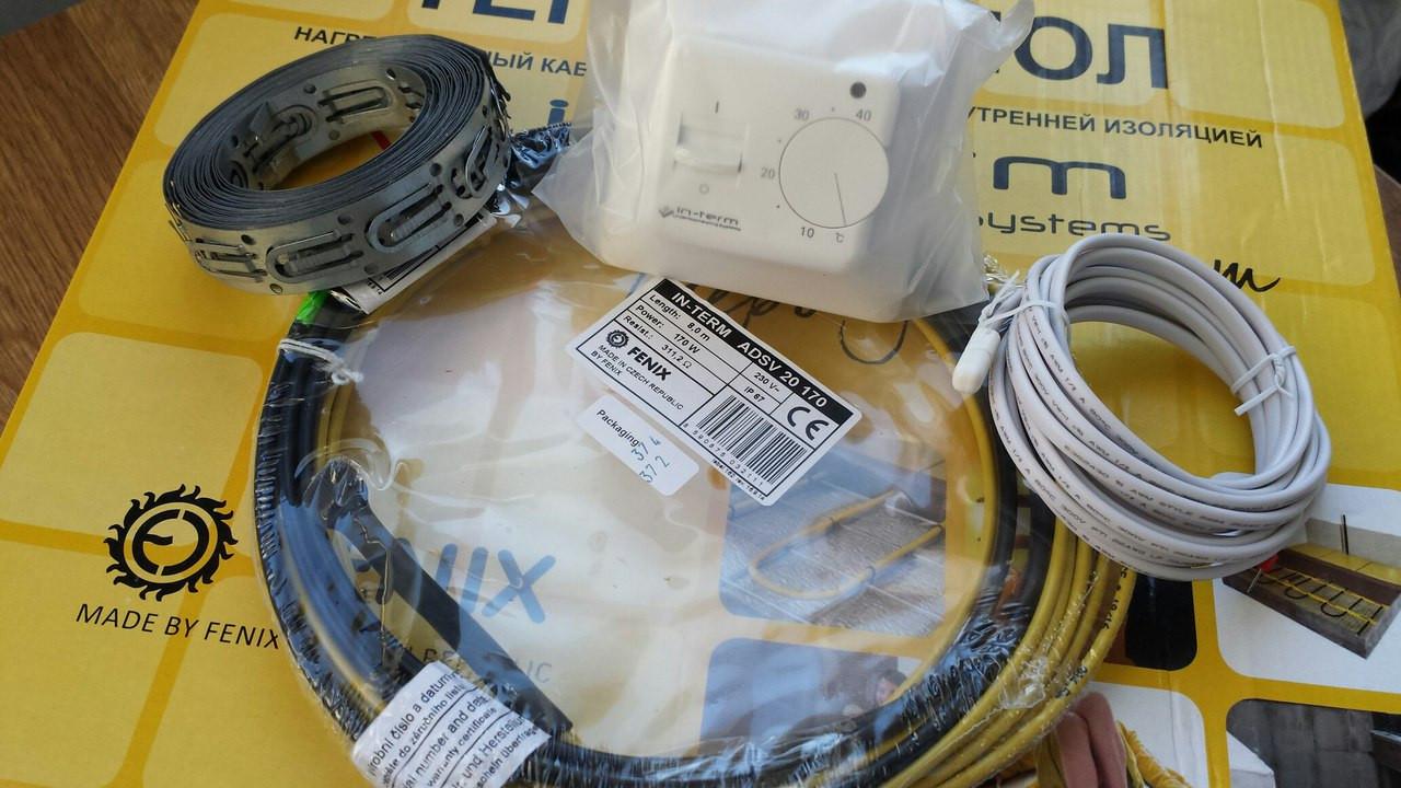 Нагревательные секции двухжильного кабеля  с Термостатом (0.8 м.кв.) Комплект