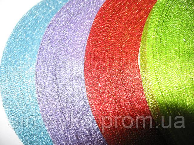 Лента парча 0,6 см фиолетовая