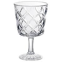 FLIMRA Бокал для вина, прозрачное стекло, с рисунком