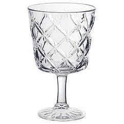 FLIMRA Бокал для вина, прозрачное стекло, с рисунком 002.865.02