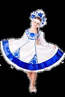Гжель белый новогодний костюм народный для девочки