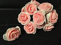 Роза латексная крем+персик