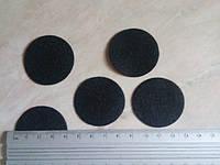 Кружечки из фетра, диаметр 4 см черные