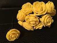 Роза латексная желтая