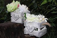 Ящичек для свадьбы Прованс с сердцем