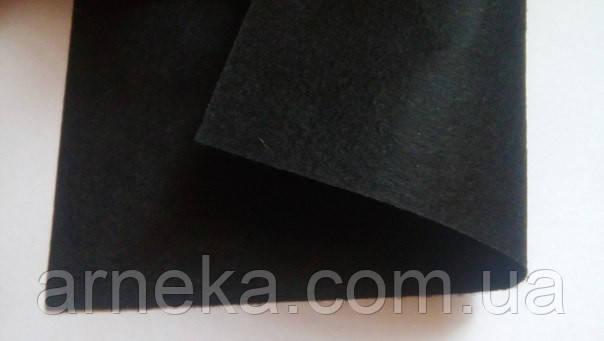 Фетр 20*25см, толщина 1 мм черный