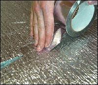 Алюминиевая клейкая лента, 50мм х 5м х 65мкм