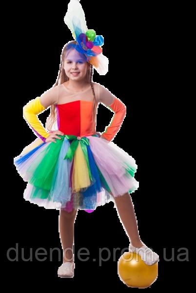 Клоунесса Ватрушка новогодний костюм девочка / BL -  ДС136