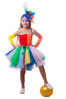 Клоунесса Ватрушка новогодний костюм девочка