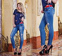 Стильные женские джинсы слимы 1518