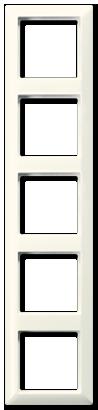 Рамка 5-я Jung AS 500 белый/слоновая кость