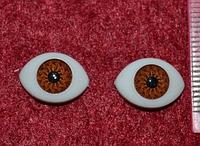 Глазки  кукольные карие 14282-1 упаковка 25 пар