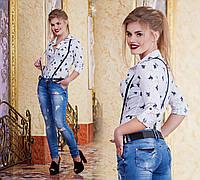 """Женская стильная рубашка с портупеей 2871-1 """"POLO"""""""