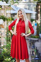 """Приталене міді-сукня """"Sybil"""" з розкльошеною спідницею (4 кольори), фото 2"""