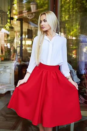 """Расклешенная женская миди-юбка из габардина """"Arizona"""" с завышенной талией (5 цветов), фото 2"""