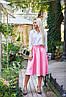 """Расклешенная женская миди-юбка из габардина """"Arizona"""" с завышенной талией (5 цветов), фото 3"""