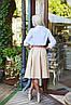 """Расклешенная женская миди-юбка из габардина """"Arizona"""" с завышенной талией (5 цветов), фото 6"""