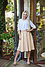 """Расклешенная женская миди-юбка из габардина """"Arizona"""" с завышенной талией (5 цветов), фото 5"""