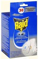 Набор (Фумигатор+сменный блок 30 ночей) рейд Raid от комаров и мух диффузорного типа треугольник