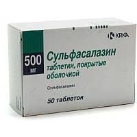 Сульфасалазин - Противовоспалительное средство - таб. 500 мг № 50