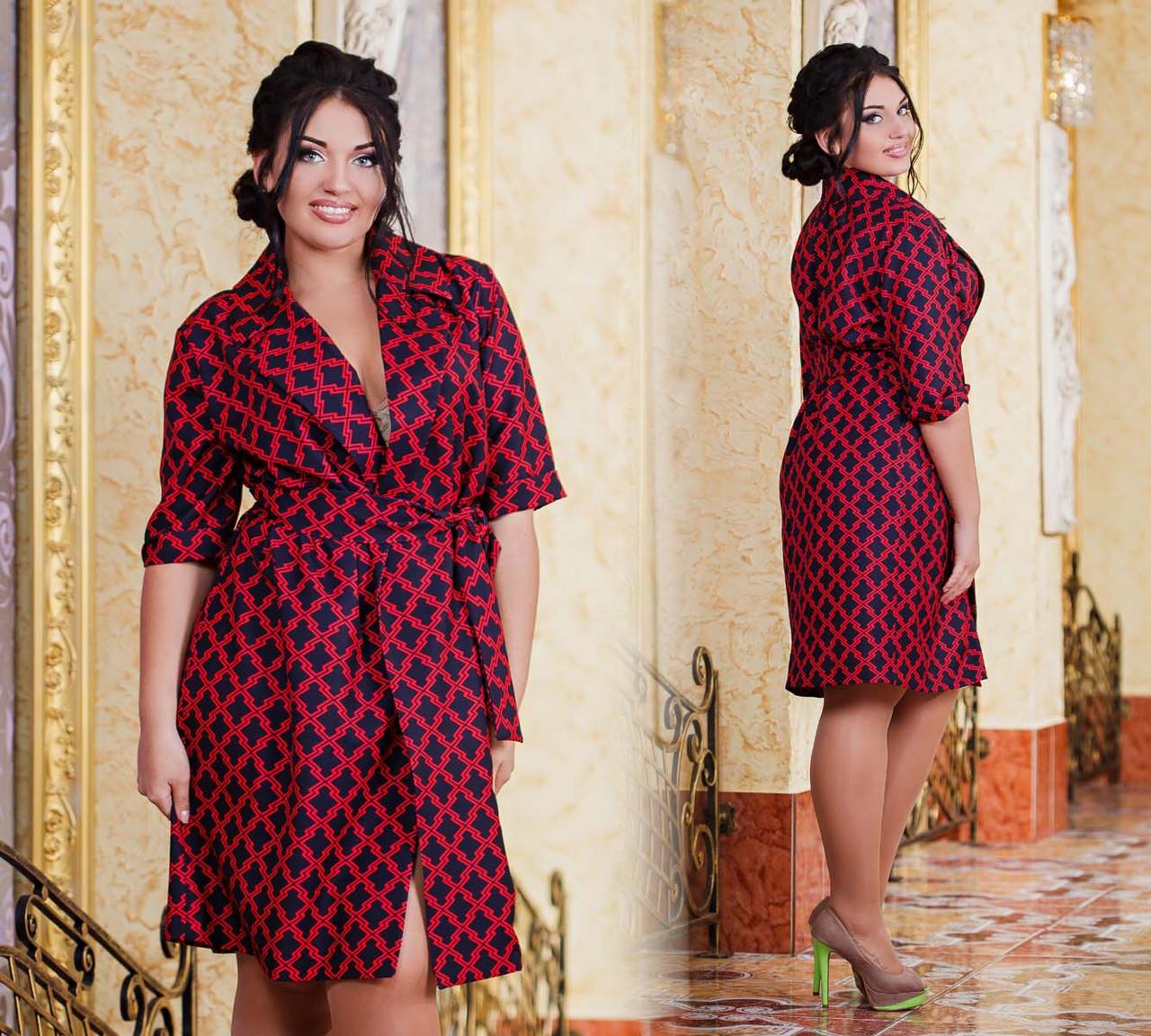801af720af0 Женское стильное платье-рубашка в больших размерах 1029
