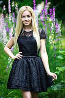 """Нарядное приталенное платье жаккард """"Lauren"""" с расклешенной юбкой (2 цвета)"""