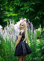 """Нарядное приталенное платье жаккард """"Lauren"""" с расклешенной юбкой, фото 2"""