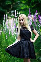 """Нарядное приталенное платье жаккард """"Lauren"""" с расклешенной юбкой, фото 3"""