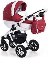 Детская коляска универсальная 2 в 1 Adamex Barletta 50% кожа 894S (Адамекс Барлетта, Польша)
