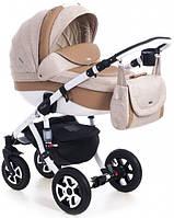 Детская коляска универсальная 2 в 1 Adamex Barletta 50% кожа 811S (Адамекс Барлетта)