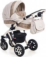 Детская коляска универсальная 2 в 1 Adamex Barletta 50% кожа 890S (Адамекс Барлетта)