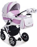 Детская коляска универсальная 2 в 1 Adamex Barletta 100% кожа 326S (Адамекс Барлетта)