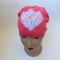 Детская вязаная шапка для девочки 5-12 лет оптом, фото 1