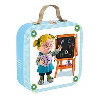 """Набор из 4х пазлов """"Учитель"""" в чемоданчике (J02880) Janod"""