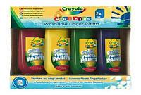 Легко смываемая краска для рисования пальцами; 4 цвета, 4х150мл, 2  (3239)