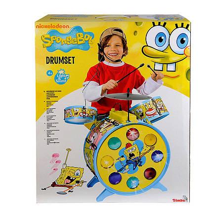 """Детский музыкальный инструмент «Simba» (9499495) барабанная установка с микрофоном """"Sponge Bob"""", 55 см, фото 2"""