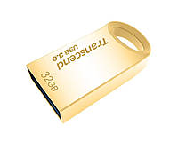 Накопитель transcend 32gb usb 3.0 jetflash 710 metal gold
