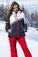 Куртка Freever женская т. синяя с белым 6310