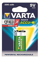 Аккумулятор крона varta rechargeable accu 6f22 9v 200mah ni-mh ready 2 use (56722101401)