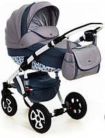 Детская коляска универсальная 2 в 1 Adamex Barletta Dream Collection Blue Dream (Адамекс Барлетта)