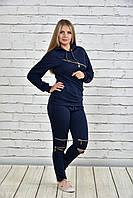 Женский спортивный костюм с отделкой молнии, с 42 до 74 размера, фото 1