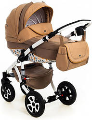Детская коляска универсальная 2 в 1 Adamex Barletta Dream Collection Dark beige Dream (Адамекс Барлетта)