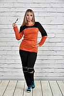 Кофта жіноча помаранчева 0339-3, з 42 по 74 розмір
