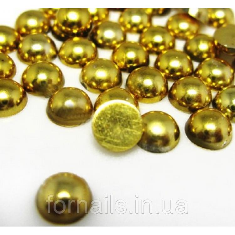 Полужемчуг золото , 2 мм - 100 шт