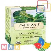 Numi Tea Organic, Savory Tea, Broccoli Cilantro, Decaf, 12 пакетиков, 52,4 г