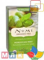 Numi Tea Органический травяной чай Teasan, без кофеина, марокканская мята, 18 пакетиков, 39,6 г