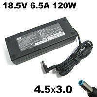 Зарядное устройство для ноутбука Compaq/HP, 3*4,5мм, 6.5А, 18.5В, 120Вт, черный блок, синий разъём