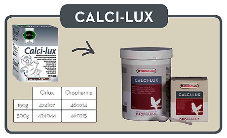 Витамины для попугаев и птиц Oropharma Calci-Lux 500gr (Versele Laga)
